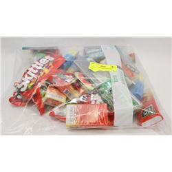 BAG OF ASSORTED CANDY AND MINTS.
