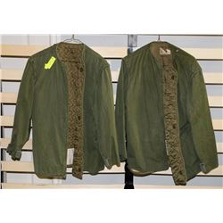 LOT OF 2 ARMY COAT LINERS