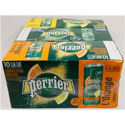 LOT OF 3 ASST PERRIER SPARKLING WATER.