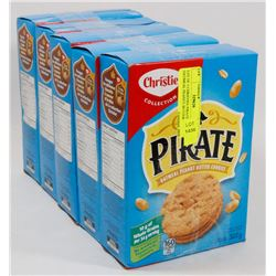 LOT OF 5 CHRISTIES PIRATE OATMEAL PEANUT BUTTER