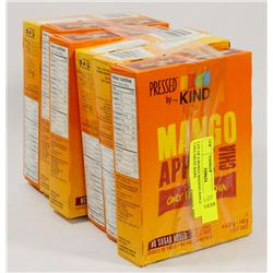 LOT OF 6 BOXES MANGO APPLE CHIA FRUIT BARS.