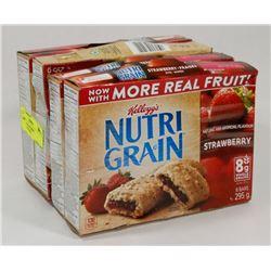 LOT OF 4 STRAWBERRY NUTRIGRAIN BARS