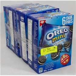 LOT OF 4 BOXES OF OREO MINIS.