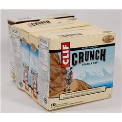 LOT OF 5 GRANOLA BARS INCL CLIF CRUNCH AND NATURES