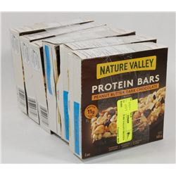 LOT OF 6 NATURE VALLEY PROTEIN BARS.