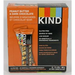 BOX OF KIND PEANUT BUTTER AND DARK CHOCOLATE BARS