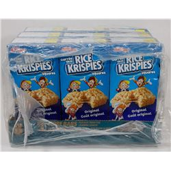9 BOXES OF KELLOGS RICE KRISPIES