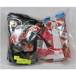 BAG OF ASSORTED CANDY AND CHOCOLATE.