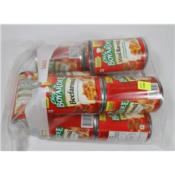 BAG OF ASSORTED CHEF BOYARDEE CANNED FOOD