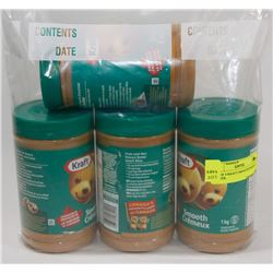 LOT OF 4 KRAFT SMOOTH PEANUT BUTTER.