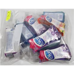 BAG OF ASSORTED HAND SOAPS.