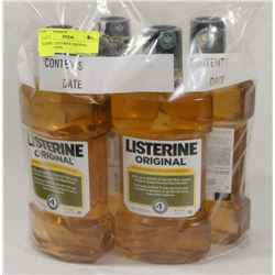 LOT OF 4 LISTERINE ORIGINAL MOUTH WASH.