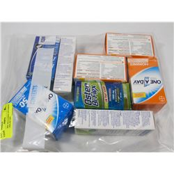 BAG OF MISC INCLUDING VITAMINS AND PAIN RELIEF GEL