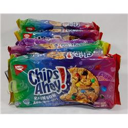 LOT OF 4 CHIPS AHOY RAINBOW & 1 CHOCOLATE CHIPS