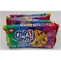 LOT OF 4 CHIPS AHOY RAINBOW