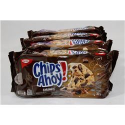 LOT OF 4 CHIPS AHOY TRIPLE CHOCOLATE & CHOCOLATE