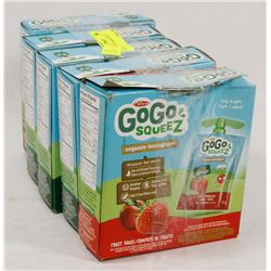 LOT OF 5 GOGO SQUEEZ FRUIT SAUCE