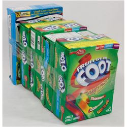 LOT OF 5 FRUIT BY THE FOOT & WELSHES FRUIT SNACKS