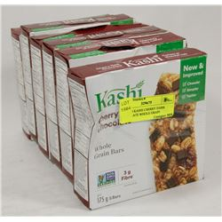 LOT OF 6 KASHI CHERRY DARK CHOCOLATE WHOLE GRAIN