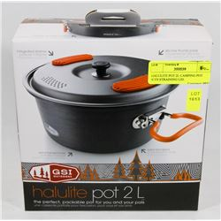 HALULITE POT 2L CAMPING POT WITH STRAINING LID.