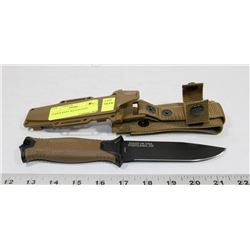 GERBER KNIFE WITH SHEATH.