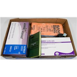FLAT OF ASSORTED INCLUDING MEDICAL GLOVES LARGE,