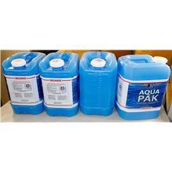 LOT OF 4 AQUA PAK WATER JUG.