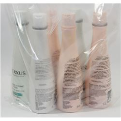 BAG OF ASSORTED NEXXUS SHAMPOO AND CONDITIONER.