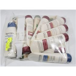BAG OF AVEENO ASSORTED LOTIONS.