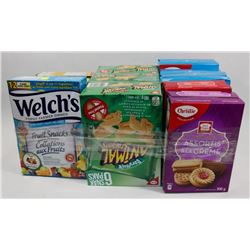 LARGE BUNDLE OF ASSORTED COOKIES AND OTHER SNACKS