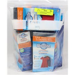 BAG OF WOOLITE AT HOME DRY CLEANER AND FINISH