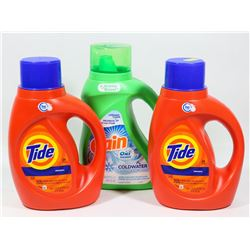 TWO BOTTLES OF ORIGINAL HE TIDE SOLD WITH BOTTLE