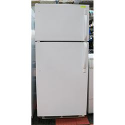 "FRIGIDAIRE WHITE FRIDGE. 30""X30""X65""."