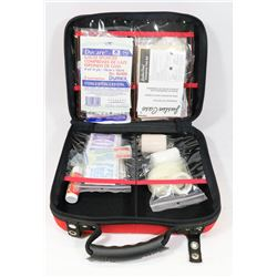 COMPLETE FIRST AID KIT - RED ZIPPER CASE