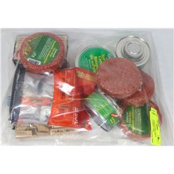 BAG OF ASSORTED FIRE DISCS SURVIVAL CANDLE AND