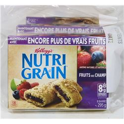 3 BOXES OF NUTRIGRAIN MIX BERRY GRANOLA BARS