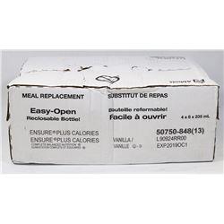 BOX OF 24 ENSURE PLUS CALORIES VANILLA 235ML