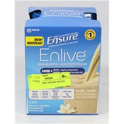LOT OF 4 235ML ENSURE ENLIVE VANILLA