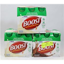 LOT OF 18 CHOCOLATE BOOST HIGH PROTEIN 237ML