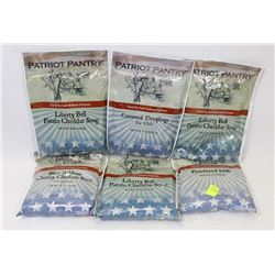 6 ASSORTED PACKS OF EMERGENCY FOOD RATIONS