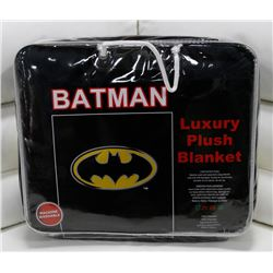 "NEW! ""BATMAN"" LUXURY PLUSH BLANKET (QUEEN)"