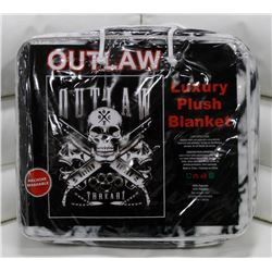 """NEW! """"OUTLAW"""" LUXURY PLUSH BLANKET (QUEEN)"""