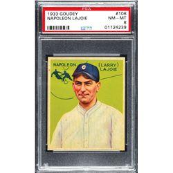 1933 Goudey #106 Napoleon Lajoie - PSA NM-MT 8