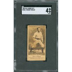 1889 N172 Old Judge #486-2 Mickey Welch - SGC VG-EX 4