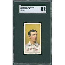 1909 T206 Piedmont Wee Willie Keeler Portrait - SGC NM/MT 8