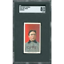 1909 T206 Sweet Caporal Joe Tinker Portrait - SGC NM/MT 8