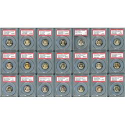 1910-12 Sweet Caporal P2 Pins Hall of Famers PSA Graded Collection (26 Different)