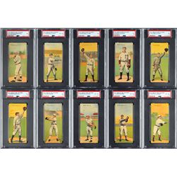 1911 T201 Mecca Double Folders PSA Completely Graded Set (50)