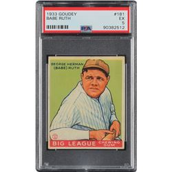 1933 Goudey #181 Babe Ruth - PSA EX 5