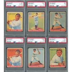 1933 Goudey Complete Set with (7) PSA Graded